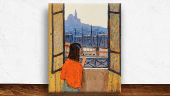 """Peinture """"La petite fille à..."""