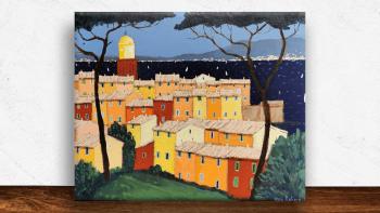 "Peinture ""Saint-Tropez vu..."