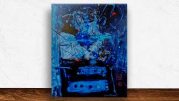 """Peinture """"Life in blues"""" de..."""