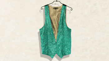 GILET SEQUENCE TURQUOISE