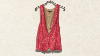 GILET SEQUENCE ROSE