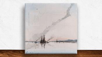 """Peinture """"Sortie du port""""..."""