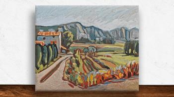 """Peinture """"Terres calcaires""""..."""