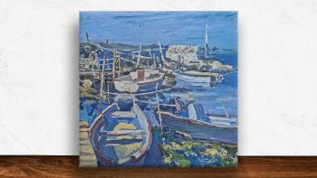 """Peinture """"Marine près de..."""