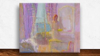 """Peinture """"Le soleil devant..."""