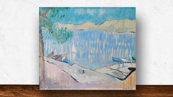 """Peinture """"Vue sur la plage..."""