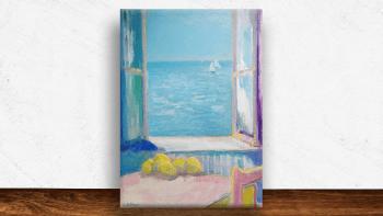 """Peinture """"La fenêtre sur la..."""