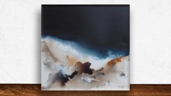 """Peinture """"Nuit au Sahara""""..."""