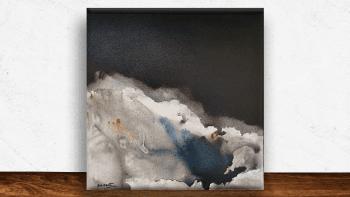 """Peinture """"Chemin de glace""""..."""