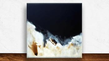 """Peinture """"les tumultes de..."""