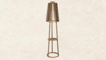 Lampadaire Solaire en teck grisé