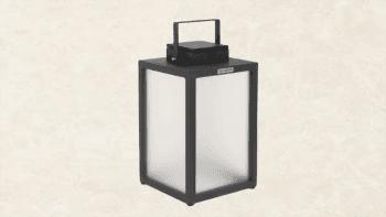 Lanterne solaire en aluminium - Hauteur 40cm