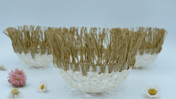 Cocon en dentelle de porcelaine - 10 cm