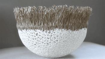 Cocon en dentelle de porcelaine - 21cm