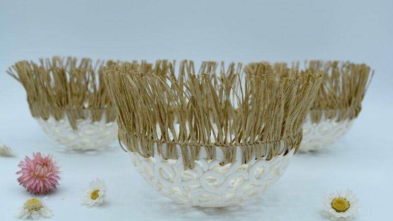 Cocon en dentelle de porcelaine - 14 cm