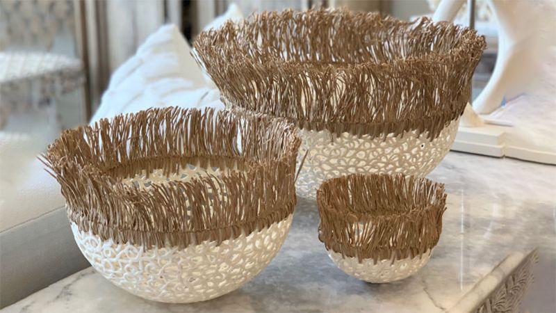 Cocon en dentelle de porcelaine - 27 cm