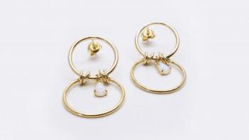 Boucles anneaux opale
