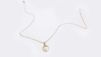 Collier rond opale