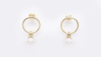 Boucles anneaux opale PM