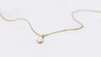 Collier pendant opale