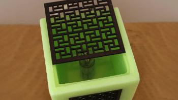 Lampe Bougie Cubic Verveine