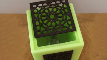 Lampe Bougie Arabesque Verveine