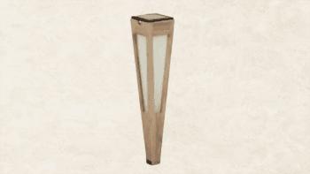 Torche Solaire en teck Grisé