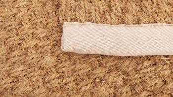 Tapis fibre coco rond Lotus