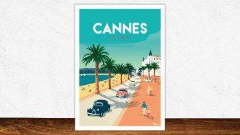 Affiche Cannes la Croisette