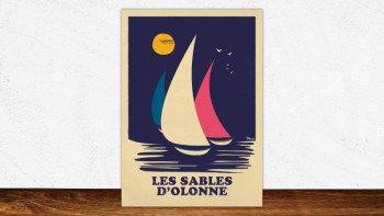 Affiche les Sables-d'olonne - retro sailing