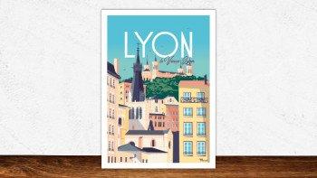 Affiche Lyon - le vieux Lyon