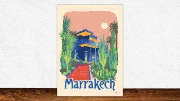 Affiche Marrakech - le jardin Majorelle