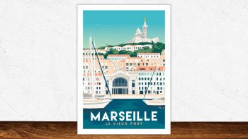 Affiche Marseille le vieux port