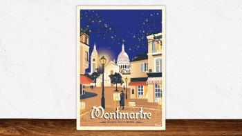 Affiche Montmartre - place du tertre