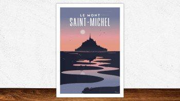 Affiche Mont-Saint-Michel