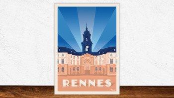 Affiche Rennes - hôtel de ville
