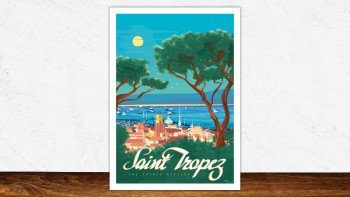 Affiche Saint-Tropez - the french riviera