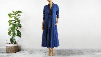 Robe bohème Bleu