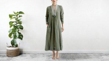 Robe bohème Vert-kaki