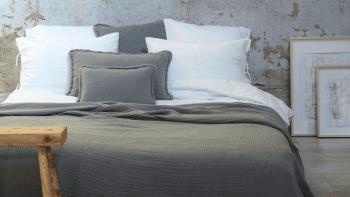Dessus de lit Ibiza en gaze de coton 260 x 270cm