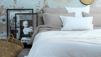 Dessus de lit Saint Tropez en gaze de coton 260 x 270cm