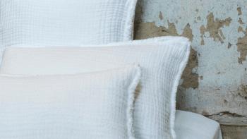 Taie d'oreiller Ibiza gaze de coton 50x70cm