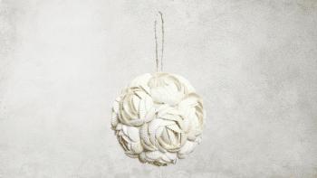 La Boule de Coquille de Rose - Blanc