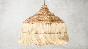 La Lampe à Pendentif Abaca Hoola - Noir - L