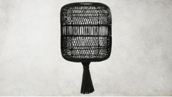 Lampadaire Rattan Dumpling - Pendentif - Noir