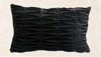 Le Coussin de Velours Frangé - Noir