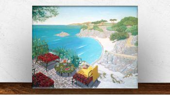 Huile sur toile Capri