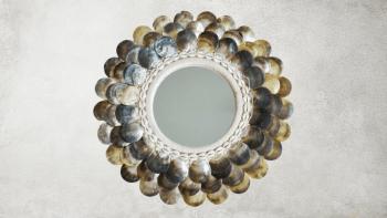Miroir Rotin à Pièces -...