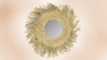 Miroir Rotin - Naturel - M