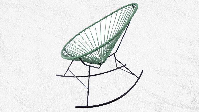 Fauteuil Acapulco Rocking Chair ski metal noir